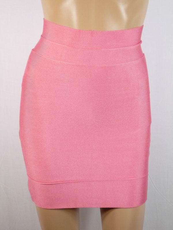 Herve Leger Mini Skirt Pink